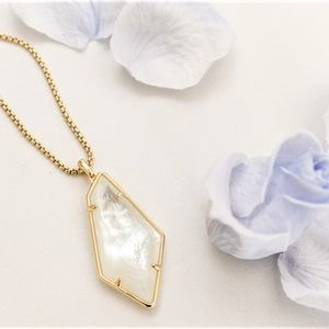 Kendra Scott Gold Lilith Mother of Pearl Necklace